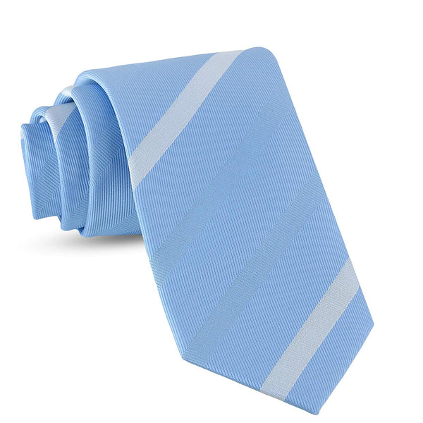 Handmade Striped Ties For Men Skinny Woven Slim Thin Light Blue Mens Stripes Tie: Thin Necktie, Stylish Neckties For Every Outfit - Galleria Brands