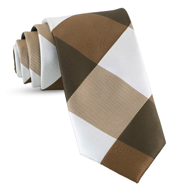 Handmade Plaid Ties For Men Skinny Woven Brown Slim Gingham Mens Ties: Thin Tie & Necktie, Stylish Neckties For Every Outfit - Galleria Brands