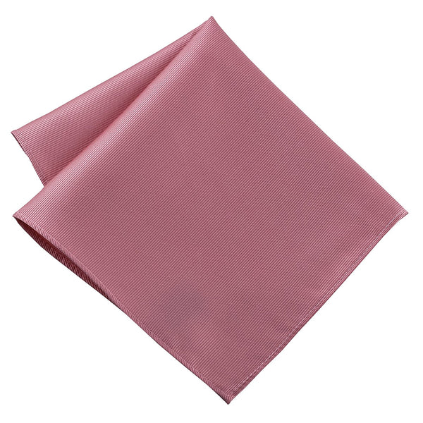 100% Silk Woven Pink Pocket Square Handkerchief - Galleria Brands