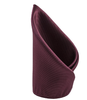 100% Silk Woven Burgundy Pocket Square Handkerchief - Galleria Brands