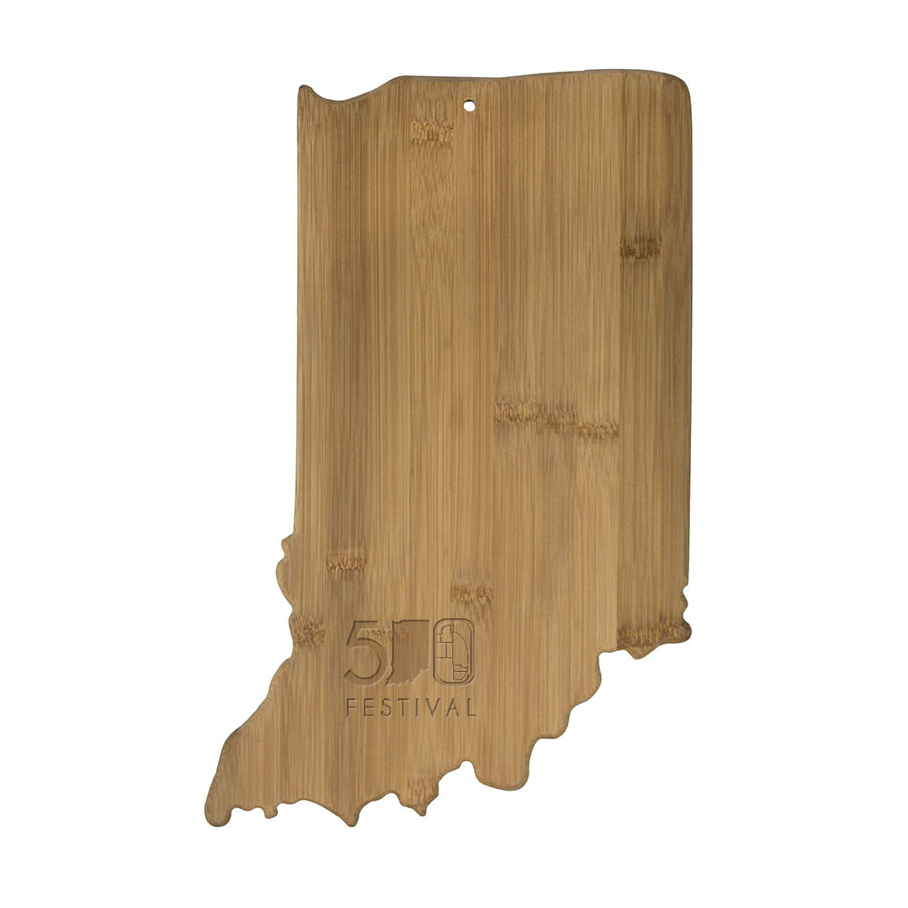 500 Festival Indiana State Shaped Cutting Board