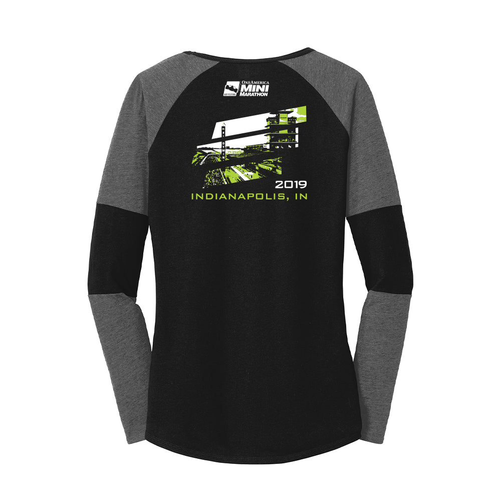 2019 13.1 Finisher New Era® Ladies Tri-Blend Performance Baseball Tee