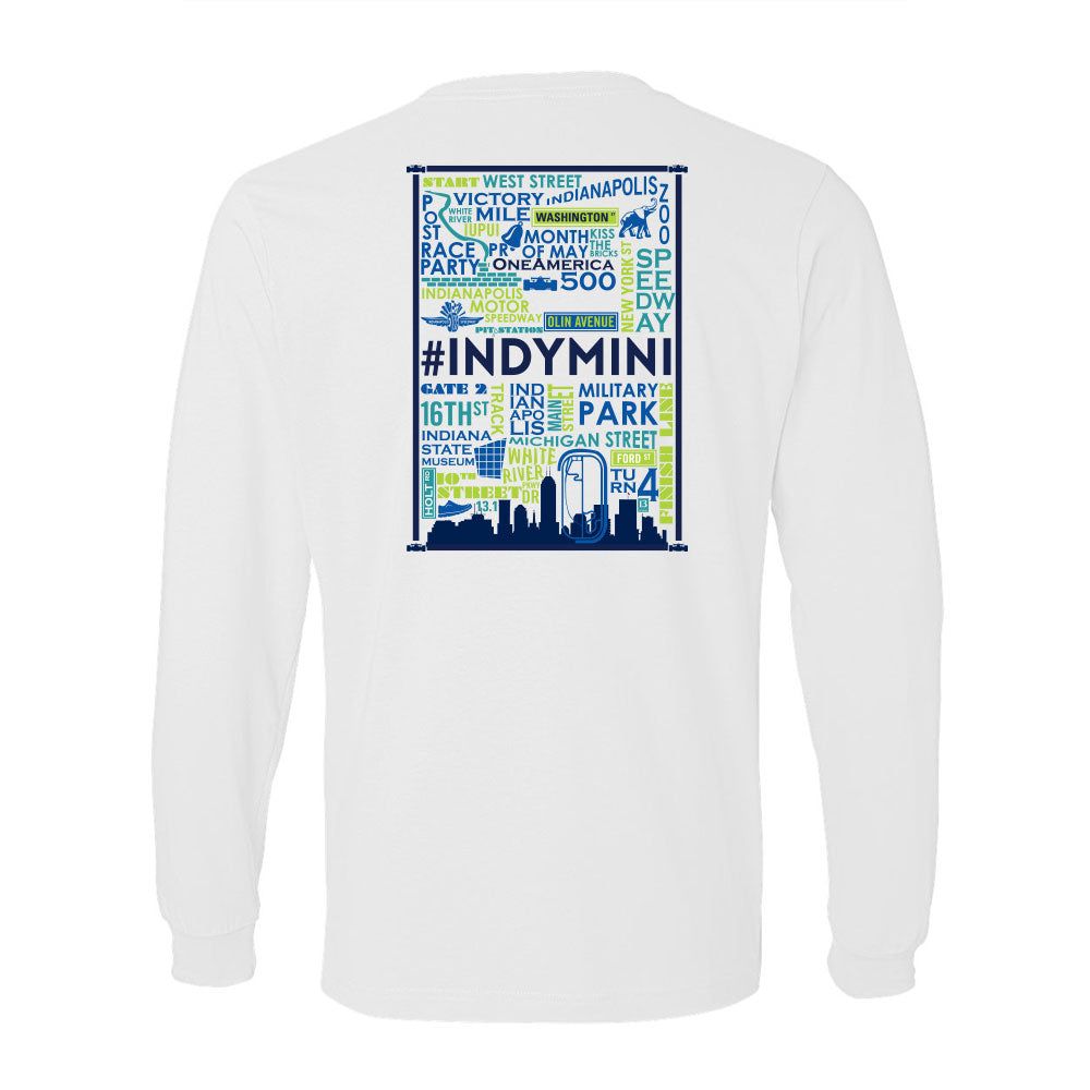 Words of Indy Mini Youth Long Sleeve Tee
