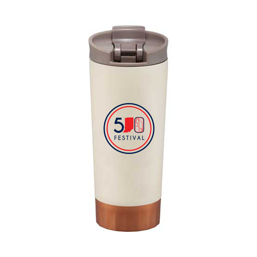 NEW 500 Festival Cutter & Buck Bainbridge Copper Vacuum 16oz Tumbler