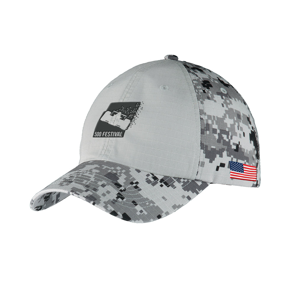 500 Festival Colorblock Digital Camouflage Cap