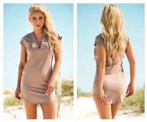 Mapale 4614 Lace Up Dress with Slightly Loose Fit