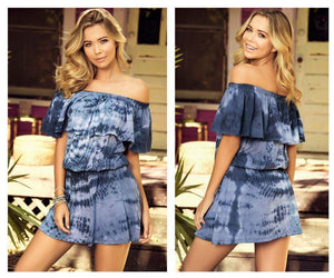 Mapale 4998 Dress Loose Fit Elastic Waist and Off The Shoulder Trend