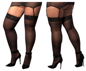 Mapale 1094X Mesh Thigh Highs