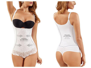 Moldeate 2087 Body Blouse Shaper Color White Open Bust
