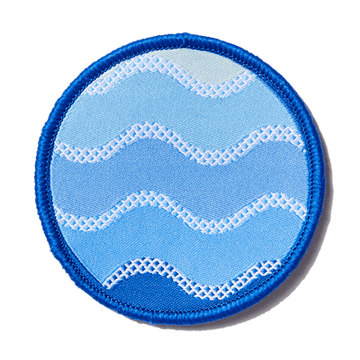 Blue Waves Patch