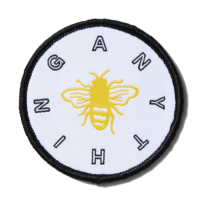 White Bee Anything Patch