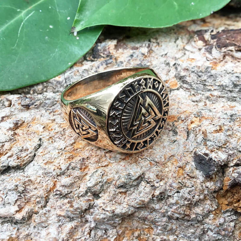 bague viking valknut bronze