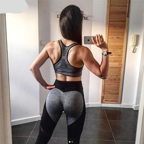 Leggings High Waist Workout Mesh