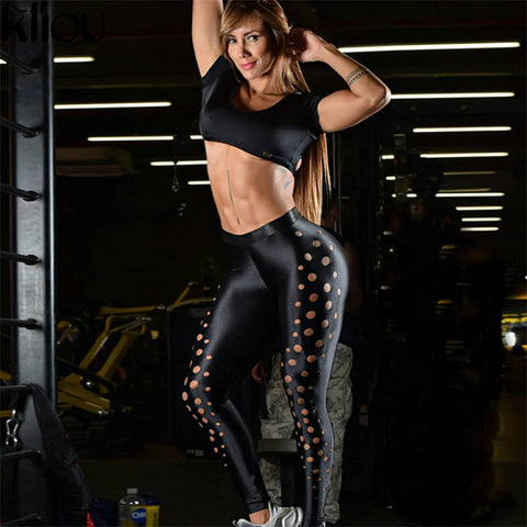 Striped slim sexy fitness legging