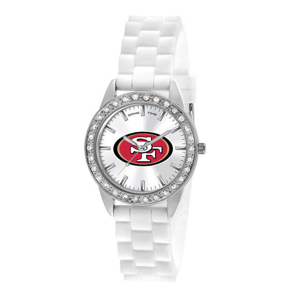 White SF 49ers Watch With Crystals