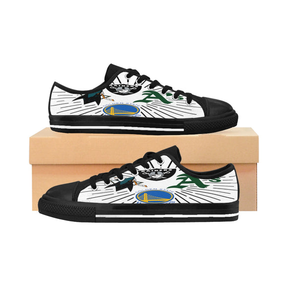 Raiders, A's, Warriors, Sharks Women's Sneakers