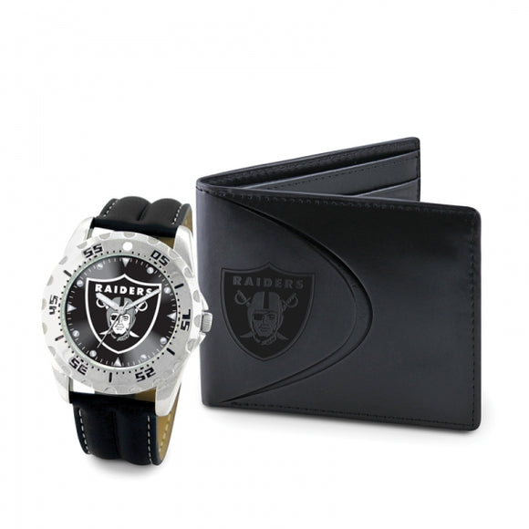 Oakland Raiders Watch With Wallet Git