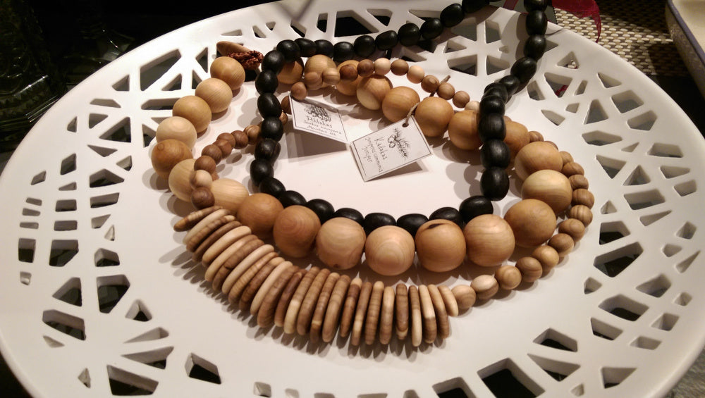 Estonian Wood Finery: Bracelets and Necklaces