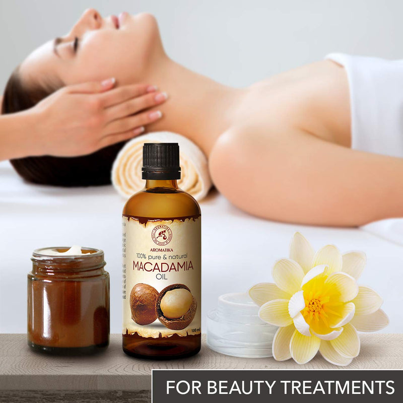 Macadamia Oil - Cold Pressed - Macadamia Integrifolia - South Africa - 100% Pure & Natural Macadamia Nut Oils - Benefits for Hair - Body - Skin Care - Massage