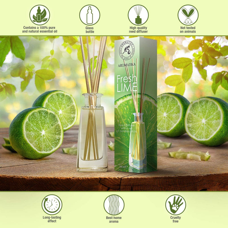 Reed diffuser lime