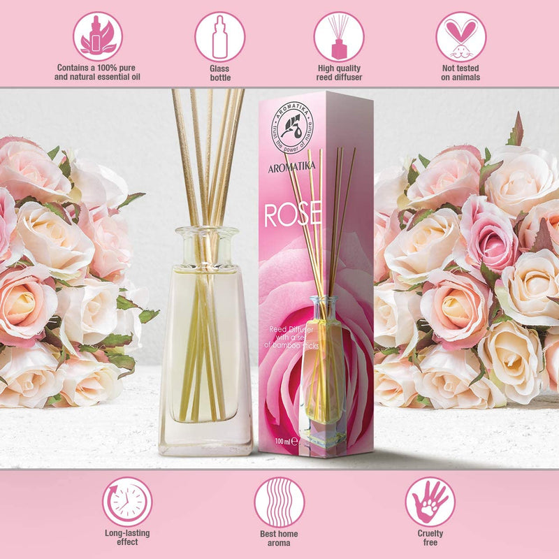 Reed diffuser rose Reed diffusers Aromatika