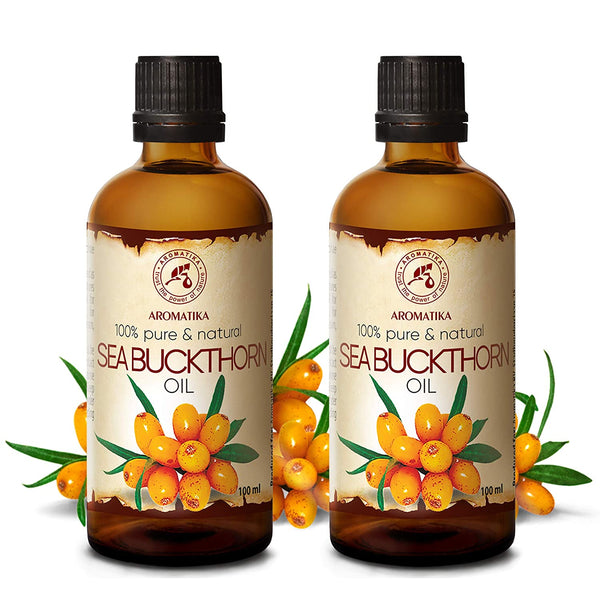 Sea Buckthorn Oil 6.8oz - Cold Pressed - 100% Pure & Natural - Base Oil - Rich in Omega 7 - Vitamin C - Intensive Care for Face Body