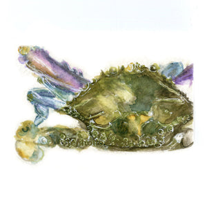 Watercolor Blue Crab, Blue Crab Print, Crab Print, Crab Art, Blue Crab Art