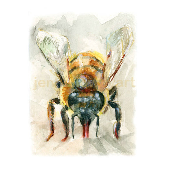 Watercolor Bee, Bee Print, Bee Art, Bee Decor
