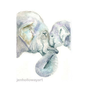 Watercolor Elephants, Elephants Print, Elephants Painting, Baby Elephant Print, Elephant Art
