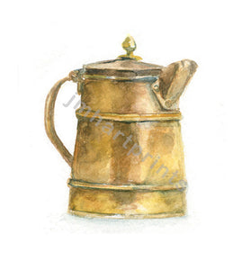 Watercolor Copper Pitcher, Copper Pitcher Print