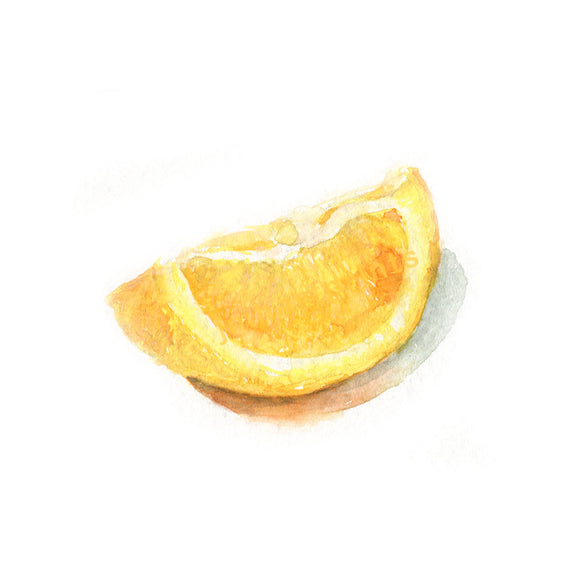 Watercolor Orange Slice, Orange Slice Print, Citrus Print