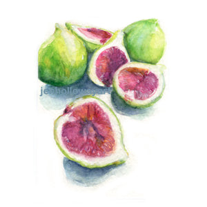 Watercolor Figs, Fig Print, Fresh Fig Print, Fruit Print, Fruit Art