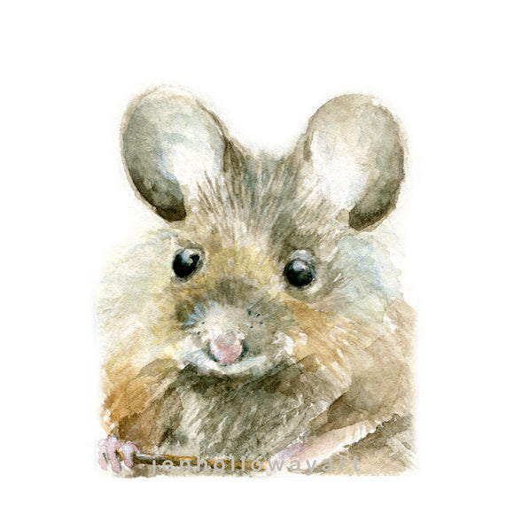 Watercolor Mouse, Mouse Painting, Mouse Print,Mouse Illustration, Mouse Picture