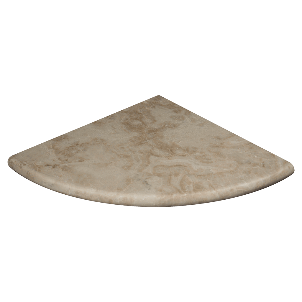 "10"" Cappuccino Marble Corner Shelf Honed / 10"" - DW TILE & STONE - Atlanta Marble Natural Stone Wholesale Stone Supplier"