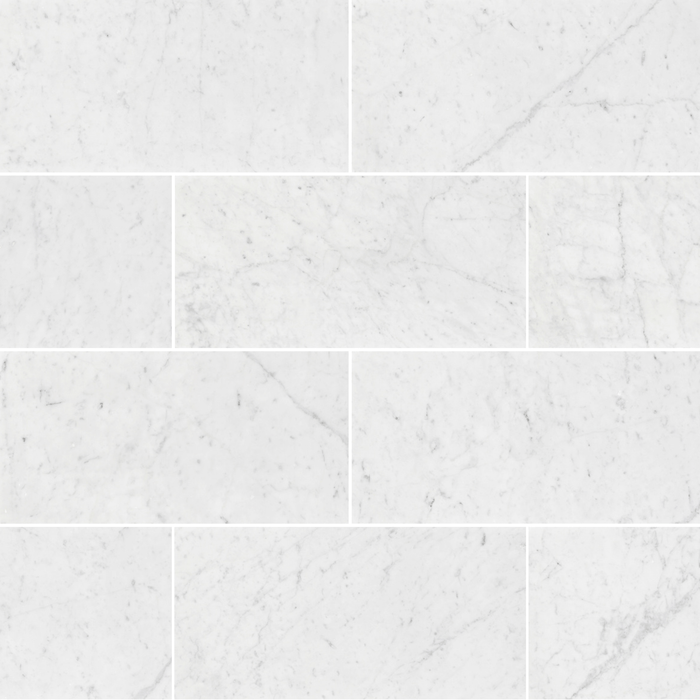 "Bianco Gioia Marble Floor and Wall Tile Honed / 12"" x 24"" - DW TILE & STONE - Atlanta Marble Natural Stone Wholesale Stone Supplier"