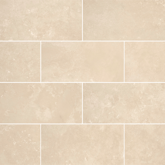 "Ivory Travertine Floor and Wall Tiles Honed - Light / 12"" x 24"" - DW TILE & STONE - Atlanta Marble Natural Stone Wholesale Stone Supplier"