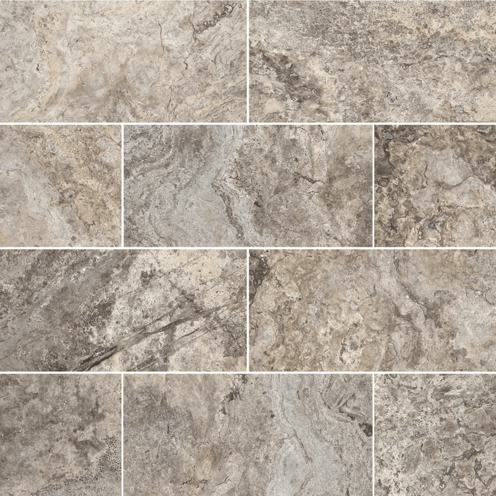 Silver Travertine Floor and Wall Tiles  - DW TILE & STONE - Atlanta Marble Natural Stone Wholesale Stone Supplier