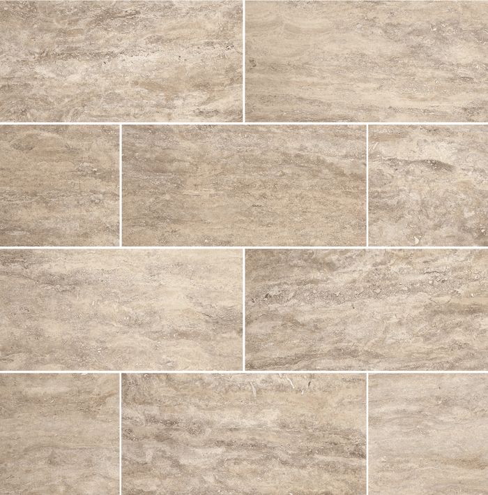 "Verona Travertine Floor and Wall Tiles Honed / 12"" x 24"" - DW TILE & STONE - Atlanta Marble Natural Stone Wholesale Stone Supplier"