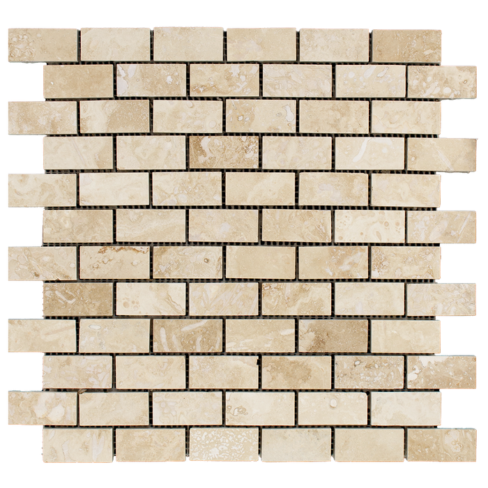 "1x2 Ivory Travertine Mosaic Tile - Honed Filled Honed Filled / 1"" x 2"" - DW TILE & STONE - Atlanta Marble Natural Stone Wholesale Stone Supplier"
