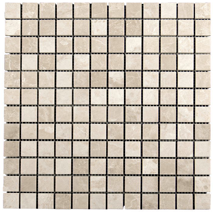 1x1 Crema Nova Marble Mosaic Tile - Polished  - DW TILE & STONE - Atlanta Marble Natural Stone Wholesale Stone Supplier