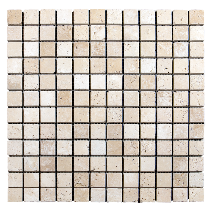 "1x1 Ivory Travertine Mosaic Tile - Tumbled Tumbled / 1"" x 1"" - DW TILE & STONE - Atlanta Marble Natural Stone Wholesale Stone Supplier"