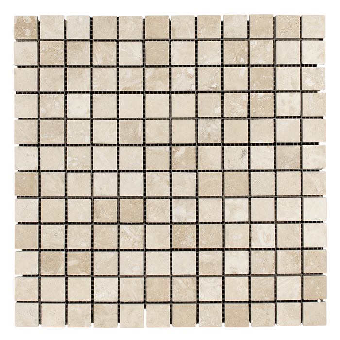 "1x1 Ivory Travertine Mosaic Tile - Honed Honed / 1"" x 1"" - DW TILE & STONE - Atlanta Marble Natural Stone Wholesale Stone Supplier"