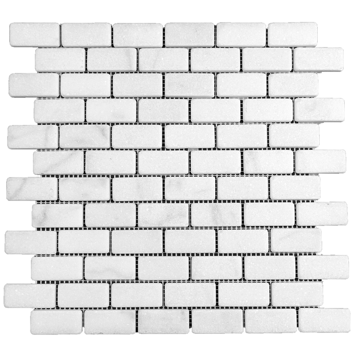 "1x2 Bianco Perla Marble Mosaic - Tumbled Tumbled / 1"" x 2"" - DW TILE & STONE - Atlanta Marble Natural Stone Wholesale Stone Supplier"