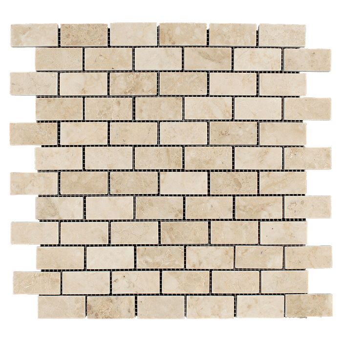 1x2 Cappuccino Marble Mosaic Tile - Polished  - DW TILE & STONE - Atlanta Marble Natural Stone Wholesale Stone Supplier