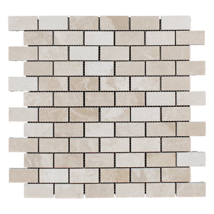 1x2 Crema Nova Marble Mosaic Tile - Polished  - DW TILE & STONE - Atlanta Marble Natural Stone Wholesale Stone Supplier