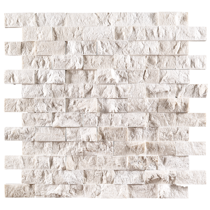 "1x2 Crema Nova Marble Mosaic Tile - Split Face Split Face / 1"" x 2"" - DW TILE & STONE - Atlanta Marble Natural Stone Wholesale Stone Supplier"