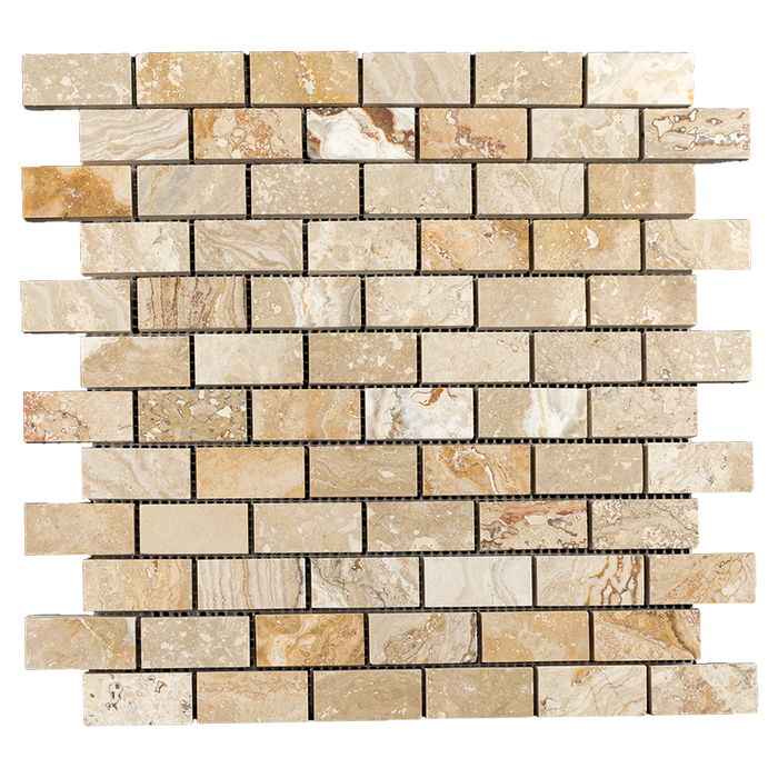 "1x2 Leonardo Travertine Mosaic Tile - Honed Honed / 1"" x 2"" - DW TILE & STONE - Atlanta Marble Natural Stone Wholesale Stone Supplier"