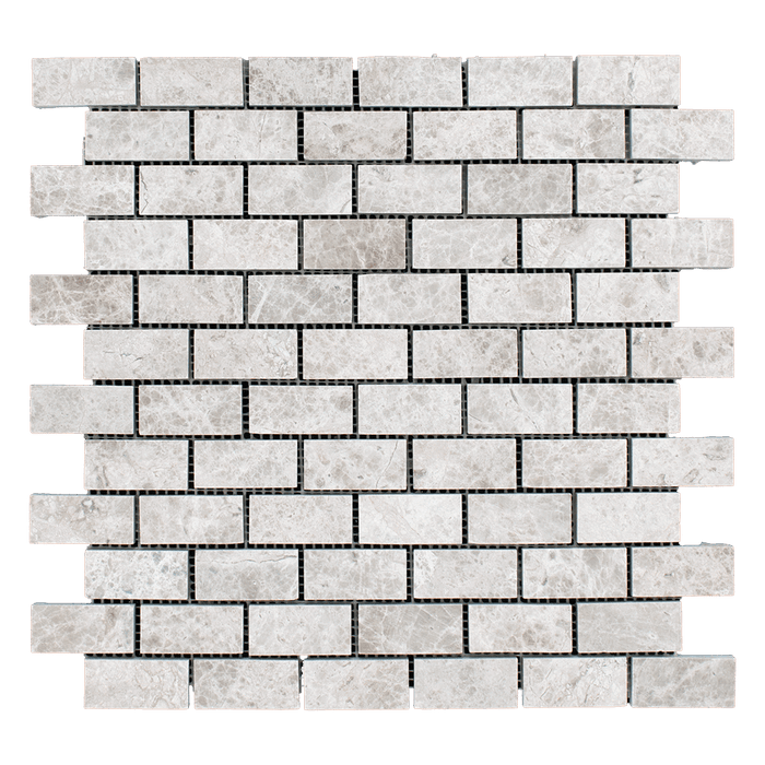 "1x2 Silver Shadow Marble Mosaic Tile - Honed Honed / 1"" x 2"" - DW TILE & STONE - Atlanta Marble Natural Stone Wholesale Stone Supplier"