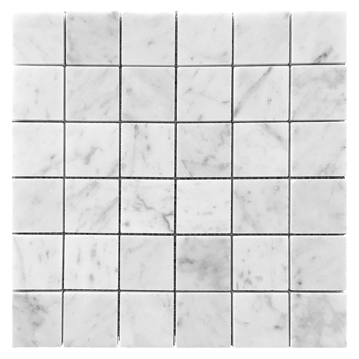 "2x2 Bianco Gioia Marble Mosaic Tile - Honed Honed / 2"" x 2"" - DW TILE & STONE - Atlanta Marble Natural Stone Wholesale Stone Supplier"