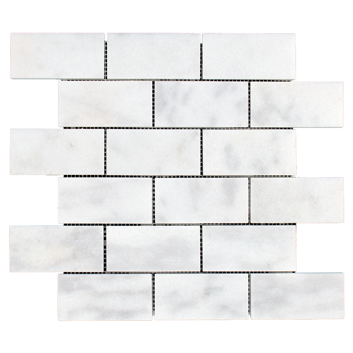 "2x4 Bianco Perla Marble Mosaic - Honed Honed / 2"" x 4"" - DW TILE & STONE - Atlanta Marble Natural Stone Wholesale Stone Supplier"
